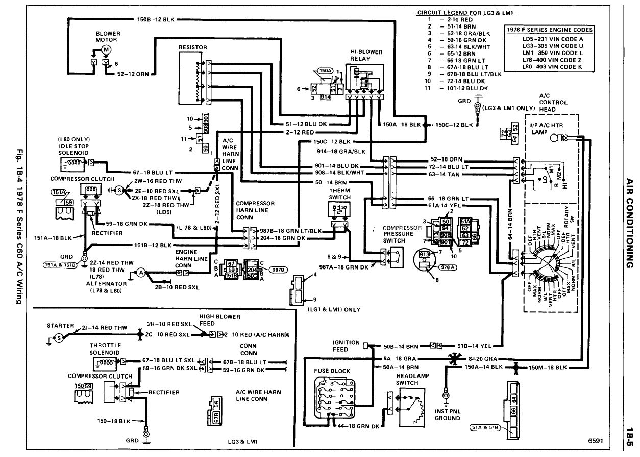 78acwiring a c wiring diagram and a c blower how tos 1978 camaro wiring harness at mifinder.co